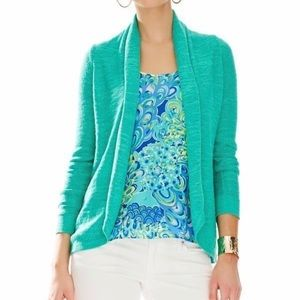 Lilly Pulitzer Sotheby Cardigan Jewel Green Small